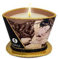 Bougie de massage SHUNGA - Bougie de massage Lueur et Carresse Chocolat enivrant - 170 ml