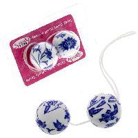 Boules de Geisha LRDP - Boules de geisha fleurs bleues