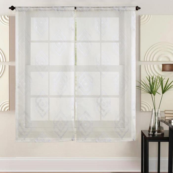brise bise voile de vitrage mid. Black Bedroom Furniture Sets. Home Design Ideas