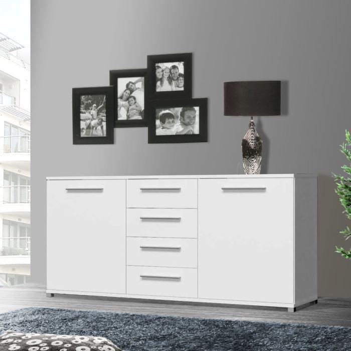 aucune artic buffet bas blanc 188cm 262770. Black Bedroom Furniture Sets. Home Design Ideas