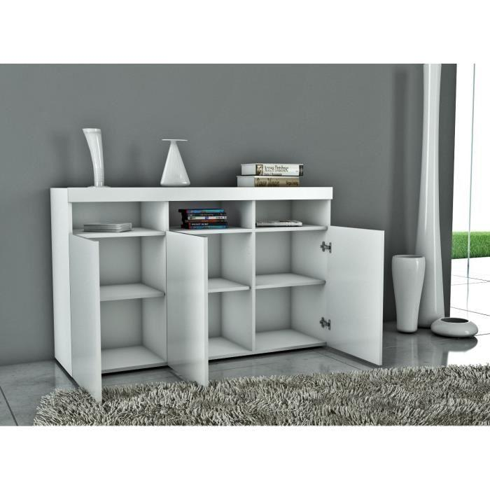 aucune burrata buffet 130cm laqu blanc 277968. Black Bedroom Furniture Sets. Home Design Ideas