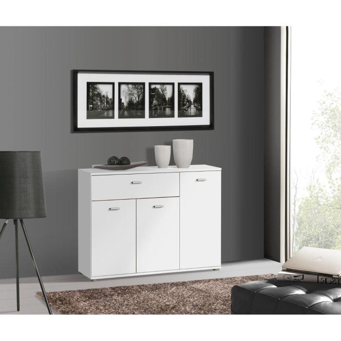 aucune dixi buffet bas 90cm blanc 262775. Black Bedroom Furniture Sets. Home Design Ideas