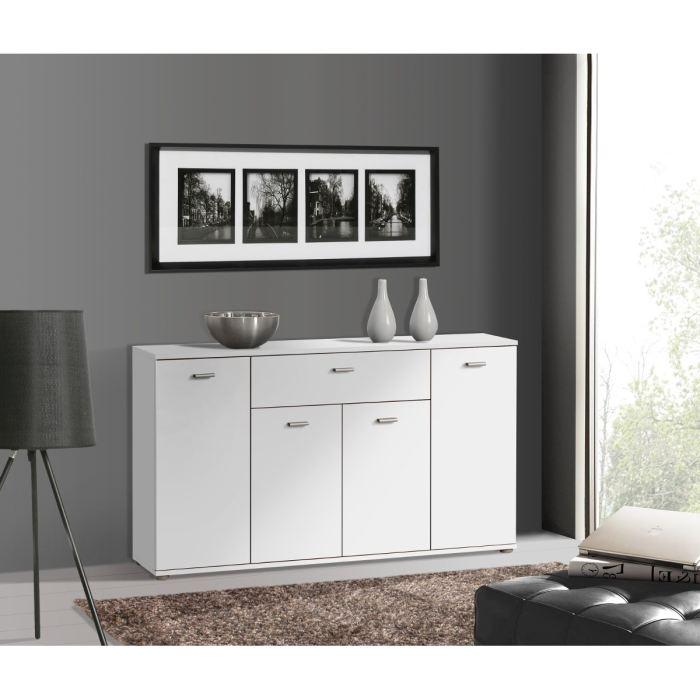 aucune dixi buffet bas blanc 120cm 262776. Black Bedroom Furniture Sets. Home Design Ideas