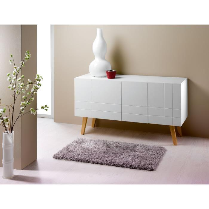 aucune london buffet de sejour 140 cm laque blanc 396433. Black Bedroom Furniture Sets. Home Design Ideas