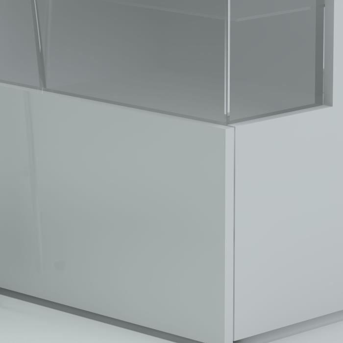Aucune new kiss buffet 150cm laqu blanc 269689 - Enfilade laque blanc ...