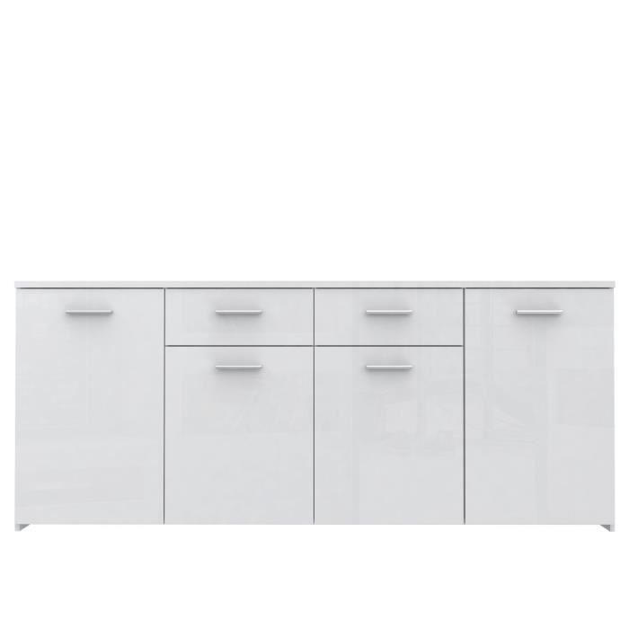 aucune passat enfilade 200cm blanc brillant 289155. Black Bedroom Furniture Sets. Home Design Ideas