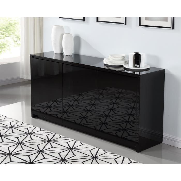 aucune polaris buffet laque 160cm noir brillant 262785. Black Bedroom Furniture Sets. Home Design Ideas