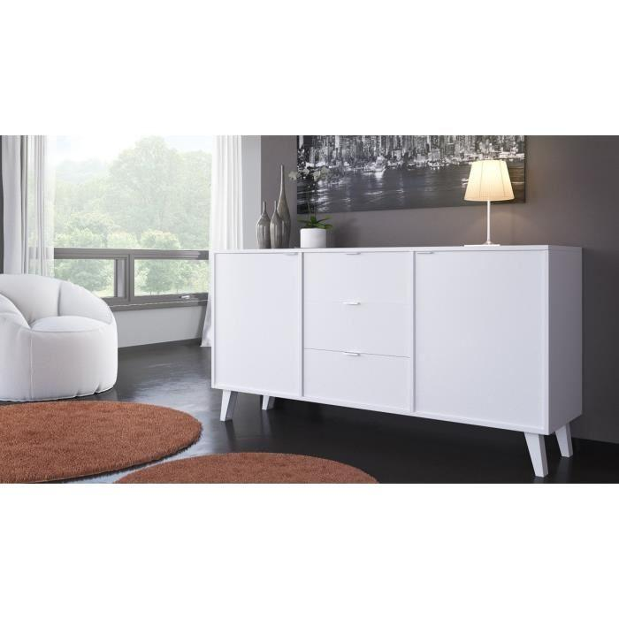 aucune sun buffet 180 cm blanc brillant 389728. Black Bedroom Furniture Sets. Home Design Ideas