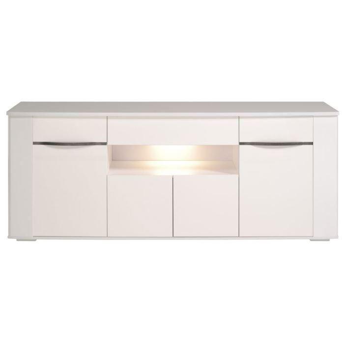 aucune white buffet 200cm blanc brillant 291437. Black Bedroom Furniture Sets. Home Design Ideas