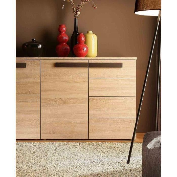 finlandek buffet nuori 100cm d cor chene clair et weng. Black Bedroom Furniture Sets. Home Design Ideas