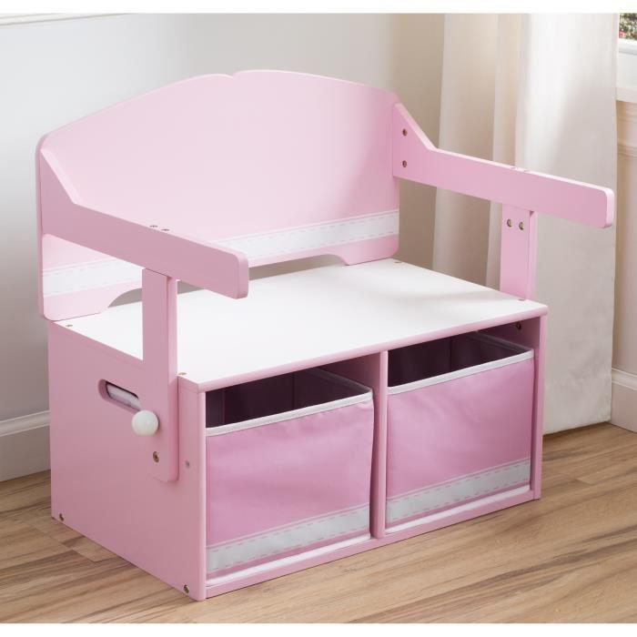 delta children bureau enfant en bois banc et pupitre rose 275550. Black Bedroom Furniture Sets. Home Design Ideas