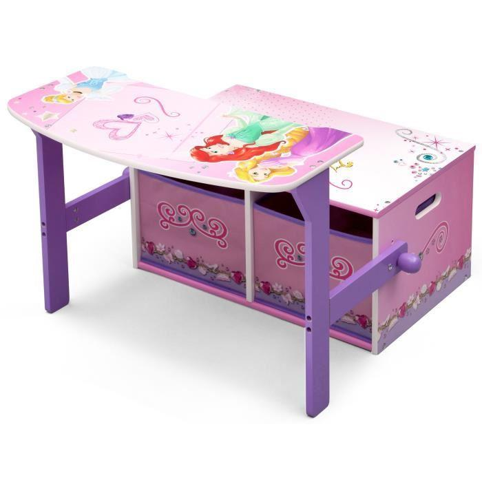 disney princesses bureau enfant en bois banc et pupitre. Black Bedroom Furniture Sets. Home Design Ideas