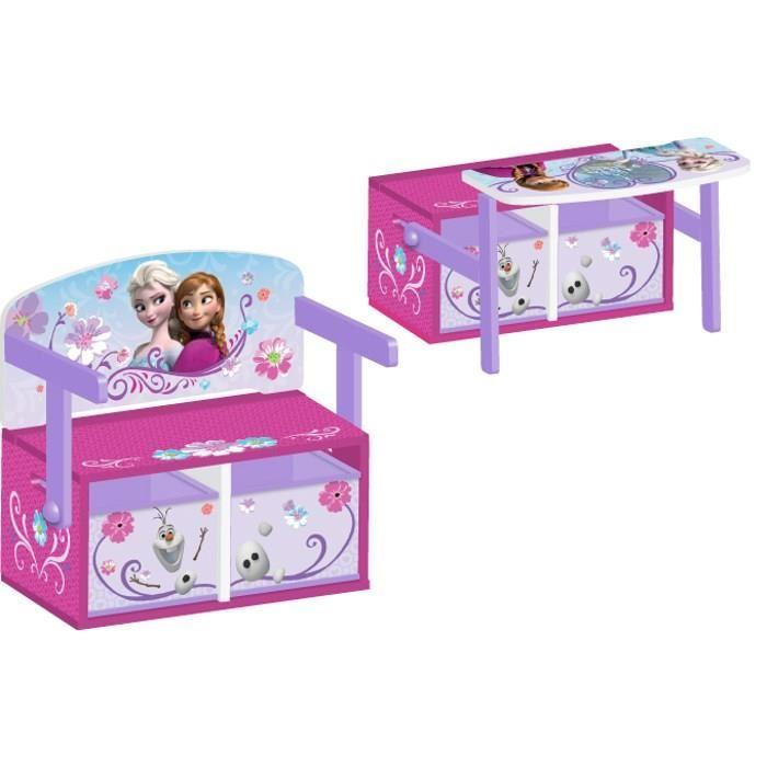 la reine des neiges bureau enfant en bois banc et pupitre 234875. Black Bedroom Furniture Sets. Home Design Ideas