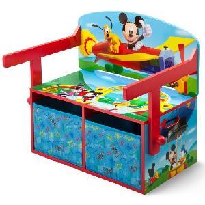 delta children mickey bureau enfant en bois banc et pupitre 234880