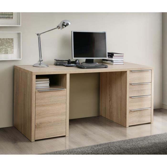 aucune calpe bureau 160 x 73 cm chene 262794. Black Bedroom Furniture Sets. Home Design Ideas