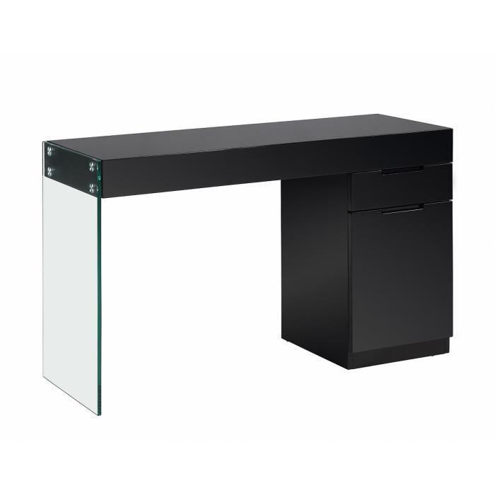 aucune crea bureau 121x42x75cm noir 304257. Black Bedroom Furniture Sets. Home Design Ideas