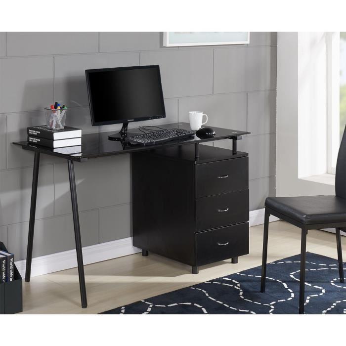 aucune cyber brureau rangement 120x60cm noir 268475. Black Bedroom Furniture Sets. Home Design Ideas