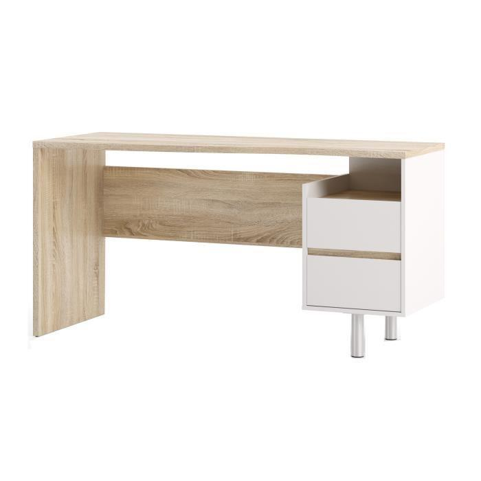 function plus bureau contemporain decor sonoma et blanc. Black Bedroom Furniture Sets. Home Design Ideas