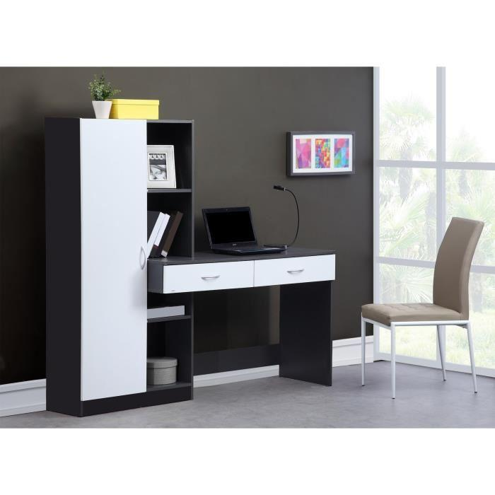 aucune optim bureau 160 cm gris 262813. Black Bedroom Furniture Sets. Home Design Ideas