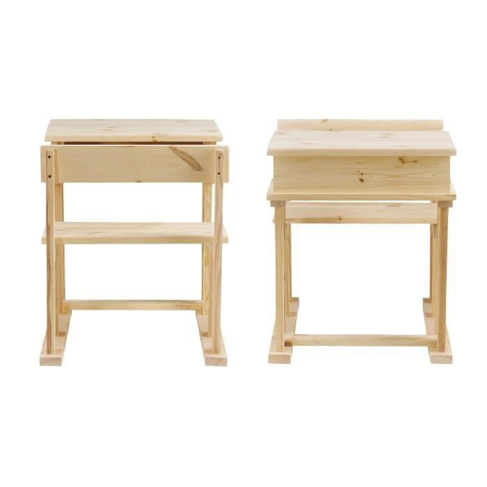 aucune wood pupitre droit enfant 60 cm en pin massif. Black Bedroom Furniture Sets. Home Design Ideas