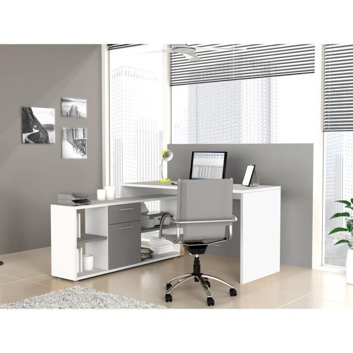 aucune zito bureau angle reversible 136x137cm chene 274256. Black Bedroom Furniture Sets. Home Design Ideas