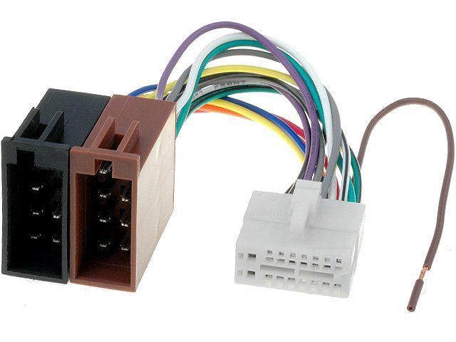 adnauto cable autoradio clarion 16pin vers iso connecteur blanc 1 281174. Black Bedroom Furniture Sets. Home Design Ideas