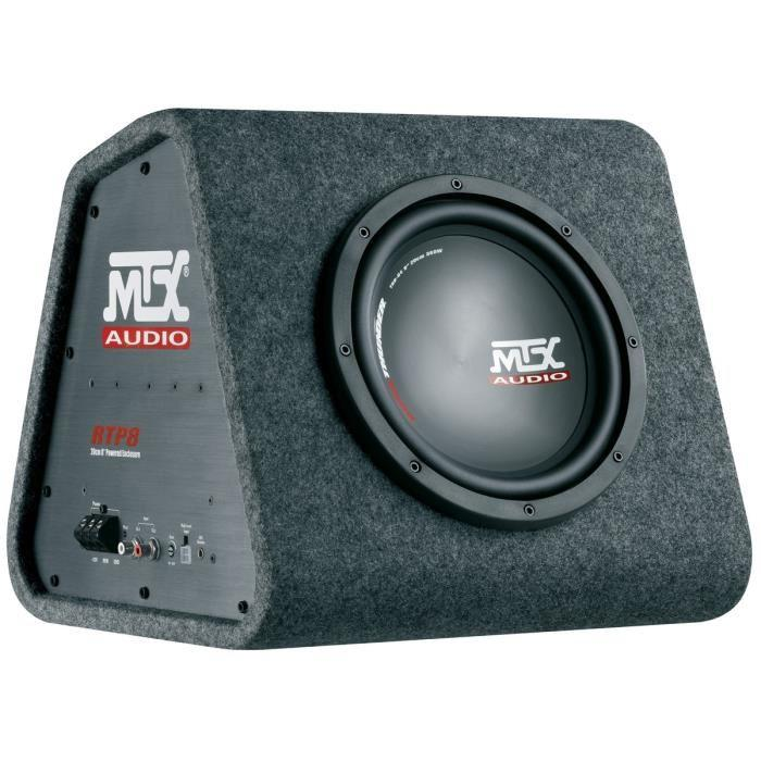 mtx rtp8 caisson amplifie classe d avec subwoofer de 20 cm 120w 355436. Black Bedroom Furniture Sets. Home Design Ideas