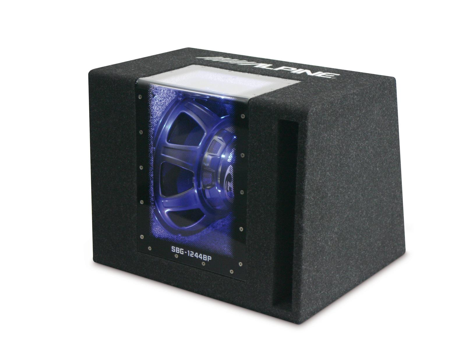 alpine sbg 1244bp caisson bass reflex subwoofer 30cm 800w max 354007. Black Bedroom Furniture Sets. Home Design Ideas
