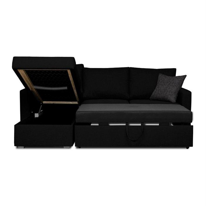 jules canape d 39 angle convertible 4 places 220x166 cm. Black Bedroom Furniture Sets. Home Design Ideas