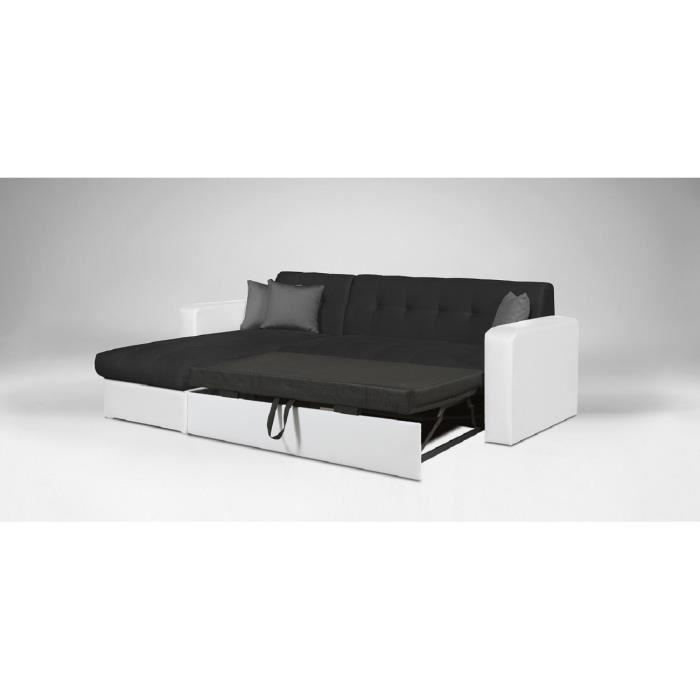 roman canape d 39 angle reversible convertible en simili et. Black Bedroom Furniture Sets. Home Design Ideas
