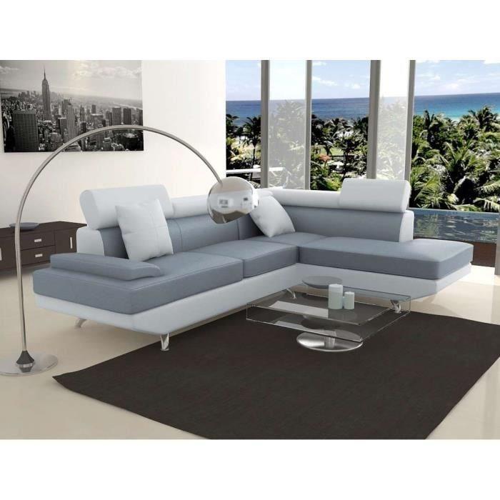 canape sofa divan aucune scoop xl canape angle droit 4 places simili gris blanc 302617 700x700 Résultat Supérieur 50 Beau Canape Angle Carre Image 2018 Hiw6