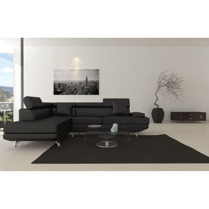 scoop xl canape d 39 angle gauche simili 4 places. Black Bedroom Furniture Sets. Home Design Ideas