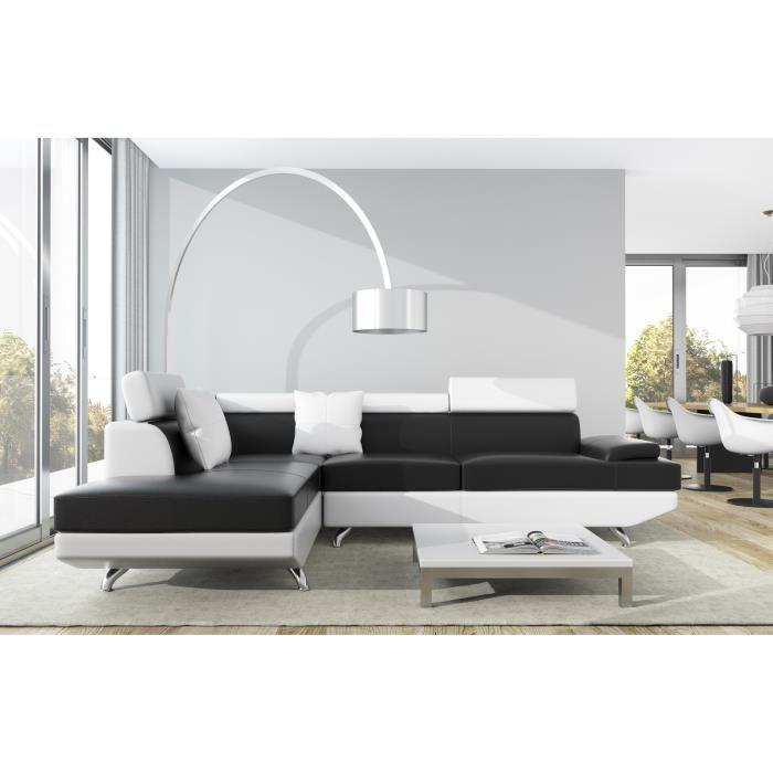 scoop xl canape d 39 angle gauche simili et microfibre 4. Black Bedroom Furniture Sets. Home Design Ideas