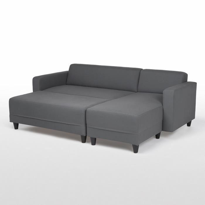 finlandek canape d 39 angle reversible convertible 4 places banc kulma 205x141x70 cm tissu. Black Bedroom Furniture Sets. Home Design Ideas