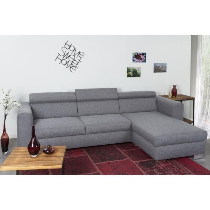 finlandek canape d 39 angle reversible otso 4 places 273x69x78 cm tissu gris 361277. Black Bedroom Furniture Sets. Home Design Ideas