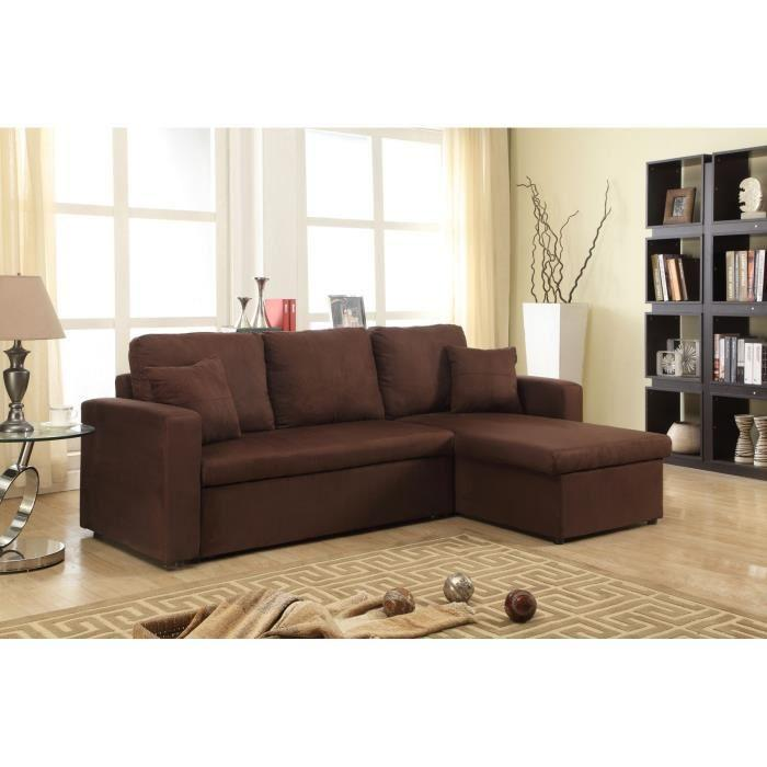aspen canape d 39 angle convertible coffre 4 places 223x146x67 cm angle reversible tissu. Black Bedroom Furniture Sets. Home Design Ideas