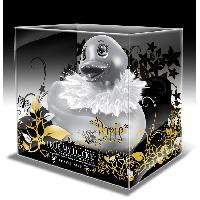 Canards vibrants et accessoires pour le bain LRDP - Mini canard Paris argente avec bec paillete
