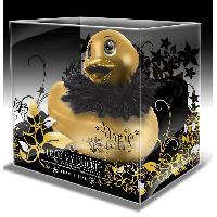 Canards vibrants et accessoires pour le bain LRDP - Mini canard Paris dore avec bec paillete