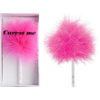 Caresser Love To Love - Plumeau Caress Me rose sur tige blanche 17cm