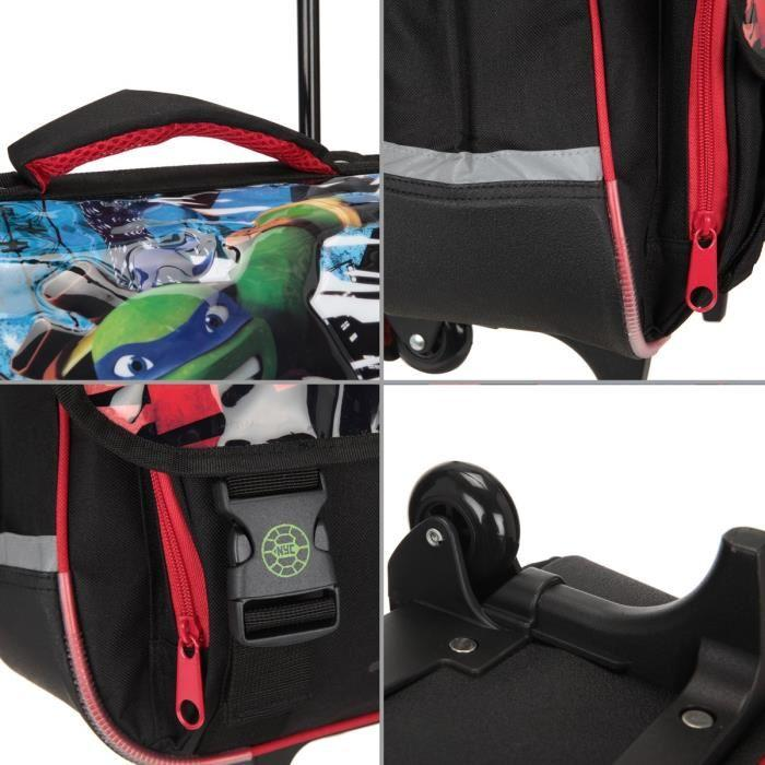 cartable aucune tortue ninja cartable a roulettes 2 compartiments 6 a 11 ans - Cartable Tortue Ninja