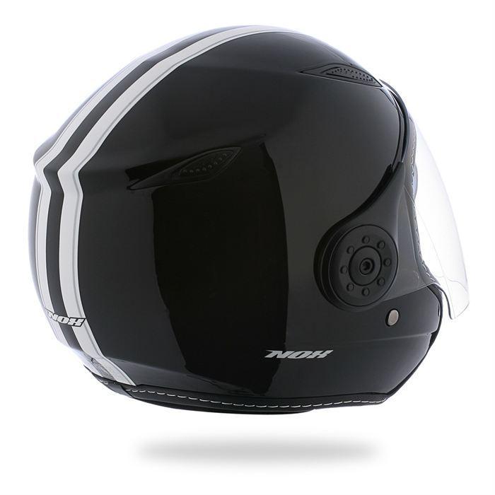 nox helmets nox casque jet n180 d co noir brillant 325902. Black Bedroom Furniture Sets. Home Design Ideas