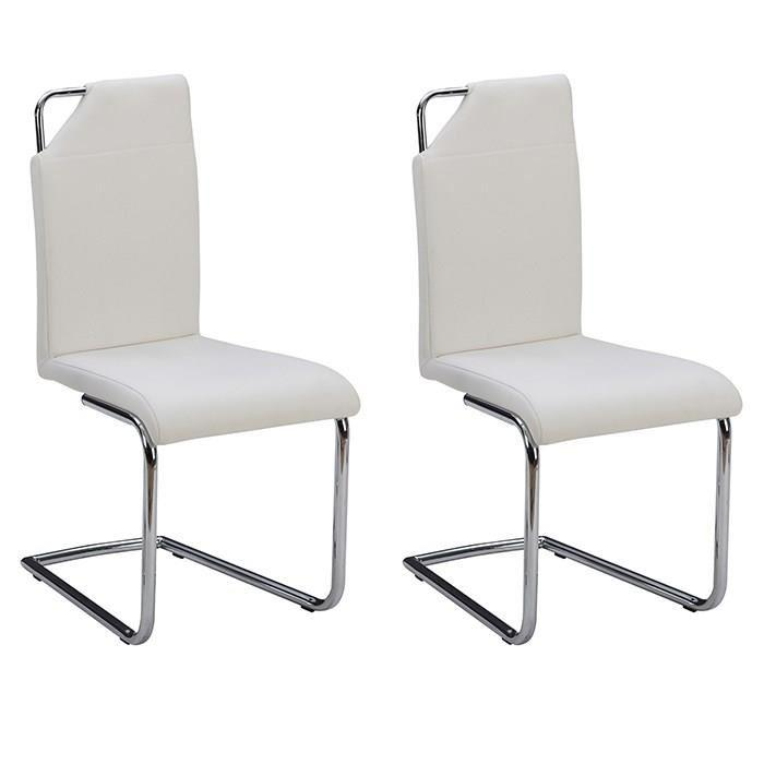 aucune absolute lot de 2 chaises de salle a manger blanche 315892. Black Bedroom Furniture Sets. Home Design Ideas