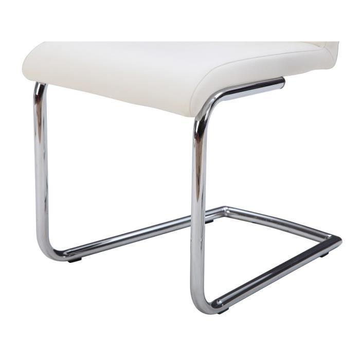 Aucune absolute lot de 2 chaises de salle a manger blanche 315892 - Chaise blanche de salle a manger ...