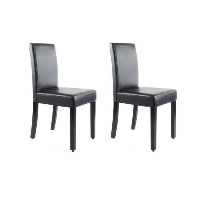 aucune clara lot de 2 chaises de salle a manger marron 274272. Black Bedroom Furniture Sets. Home Design Ideas
