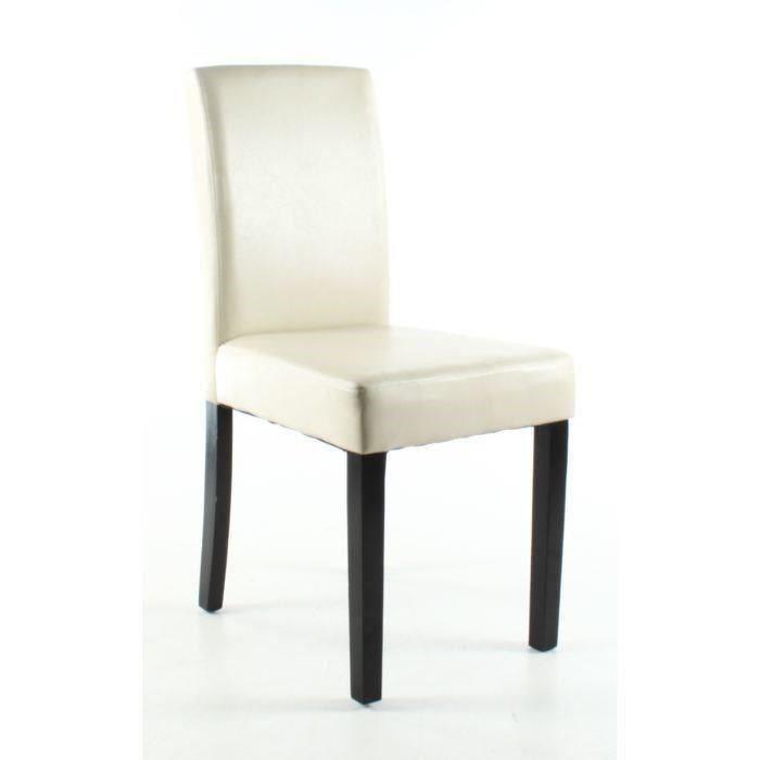 Aucune clara lot de 4 chaises de salle a manger ivoire for Lot 4 chaises salle manger