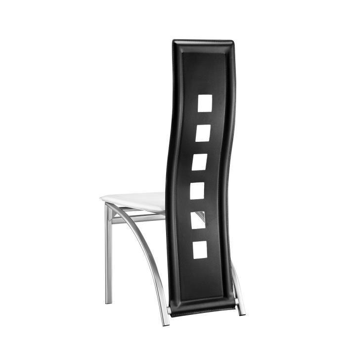 Eiffel lot de 2 chaises de salle a manger noires et for Chaises salle a manger blanches design