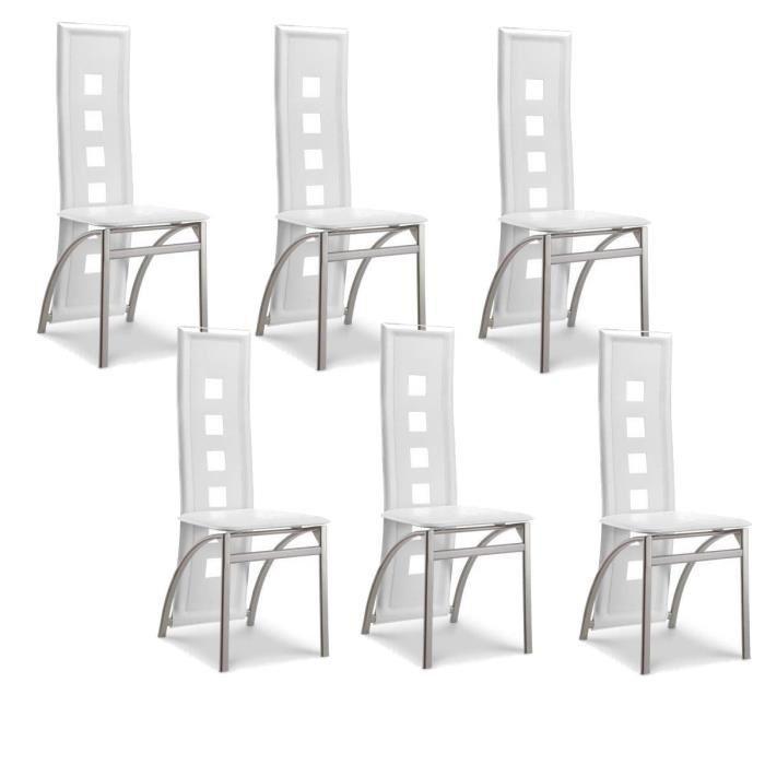 eiffel lot de 6 chaises de salle a manger et aluminium design 275208. Black Bedroom Furniture Sets. Home Design Ideas