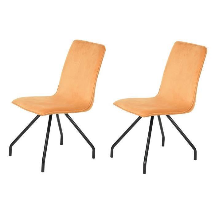 eiffel lot de 2 chaises de salle a manger noires et blanches simili et aluminium design 275947. Black Bedroom Furniture Sets. Home Design Ideas