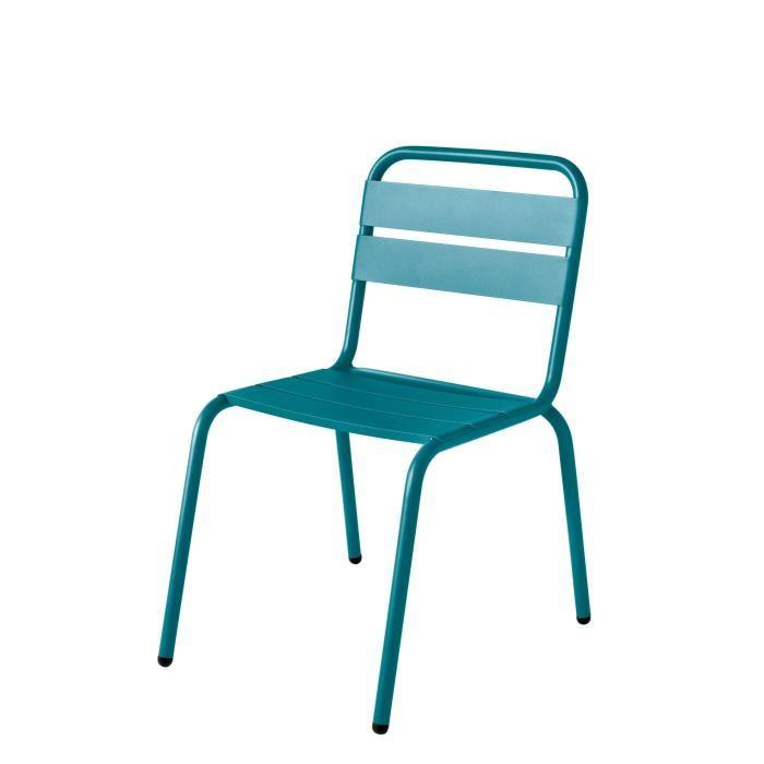 Isi mar lot de 4 chaises bleu agata barceloneta 301835 for Chaise de jardin bleu marine
