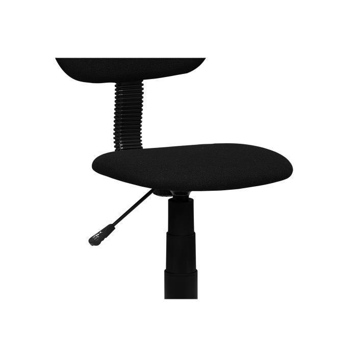 pencil chaise dactylo de bureau en tissu sur roulette noire 381626. Black Bedroom Furniture Sets. Home Design Ideas